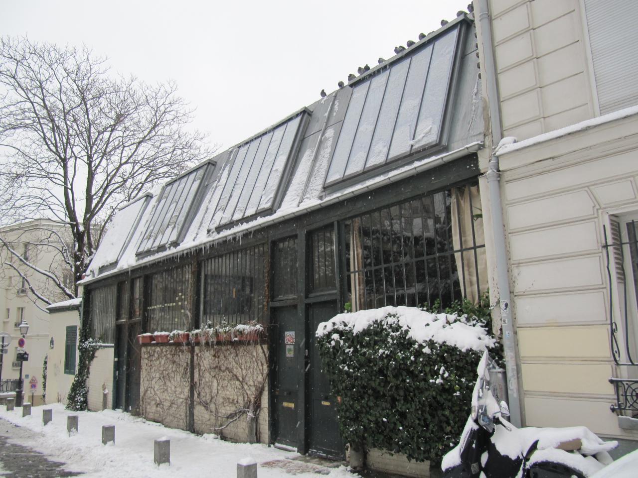 Montmartre enneigé